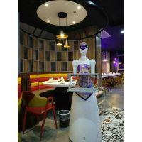 穿山甲PIR女神餐饮服务机器人走到哪里都成为亮点