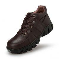 冬季加毛绒户外登山鞋男士皮鞋潮流休闲男鞋子真皮保暖棉鞋爸爸鞋