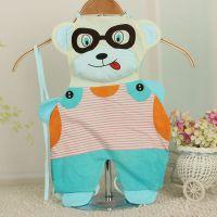 外贸原单 夏装新款纯棉儿童连腿肚兜 眼镜熊卡通婴儿造型肚兜批发