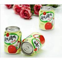 江苏代理韩国进口食品批发乐天粒粒果肉苹果汁饮料 238ml*12瓶