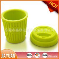 廉价定制硅胶咖啡杯 硅胶马克杯 硅胶星巴克杯 便携硅胶咖啡杯