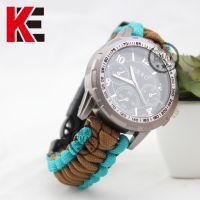 易麦7芯伞绳编织手表时尚时装表户外运动指南针救生求生带手表