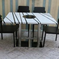 海德利厂家直销饭店火锅桌快餐桌椅多少钱一套专业定做杭州办公桌椅回收买餐桌餐椅批发代理