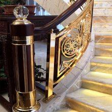 超强立体精雕铝镁护栏 欧美铝艺楼梯扶手护栏