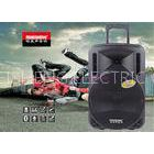 Lightweight Trolley 12 Inch PA Speakers Battery Powered Sound System