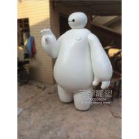 京山县,玻璃钢人物雕塑大白出租卡通雕塑超能陆战队大白租赁