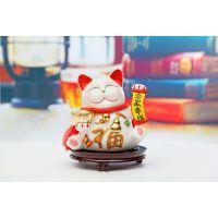 正版10寸高档招财猫摆件 大号创意陶瓷招财猫开业礼品