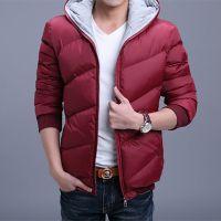 2015男式棉服冬装新款羽绒棉服外套韩版短款修身连帽加厚棉衣