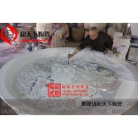酒店装饰品 陶瓷海鲜大盘 青花手绘大瓷盘 和艺陶瓷