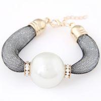 小额批发欧美 潮流百搭优雅大颗珍珠闪耀简洁气质手链速卖通热销