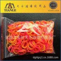 欧美热卖厂家创意彩色硅胶橡皮筋手链 夜光DIY编织胶橡皮筋手绳