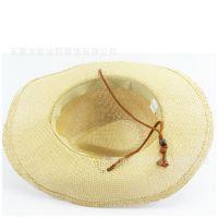 厂家定制做旧沙滩帽农用太阳帽夏季防晒遮阳麦秆透气大沿草帽批发