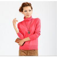 批发2014秋装新款韩版时尚修身高领打底衫针织衫女套头毛衣