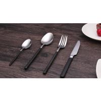 西餐餐具 黑金304不锈钢餐具 黑柄镜光刀叉勺 可印LOGO 厂家直批