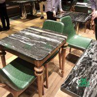 大理石餐桌 中式简约餐厅人造石餐桌西餐厅大理石快餐桌 高档餐厅餐桌 质量优先