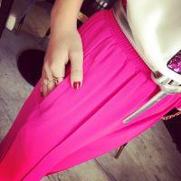 小银子2015夏装新款欧美百搭舒适松紧腰垂坠感休闲哈伦裤S