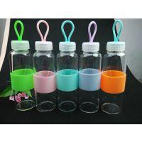 供应海成H0021卡通运动水壶,高硼硅耐高温玻璃水杯,防烫手