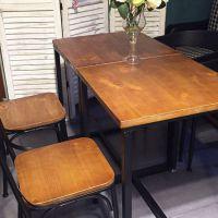 新品推荐 海德利美式LOFT铁艺餐桌 水管桌脚餐厅/咖啡厅餐桌椅