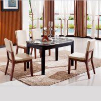 时尚简约现代餐椅酒店椅餐桌椅组合高档橡木实木烤漆皮餐椅Y108