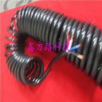 进口螺旋弹簧电线/5芯x0.5平方弹簧电缆线/聚氨酯电线工作长度3米