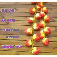 仿真花藤大葡萄叶 款式多样 藤蔓条挂墙壁装饰 蔓藤植物 批发