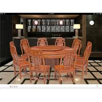 百家红木-云南红木家具直销-1.58象头圆桌-缅甸花圆桌-古典家具