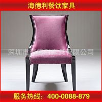 厂家供应 现代实木PU餐椅 紫色镂空提手靠背别墅美容婚纱影楼椅