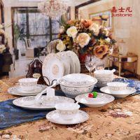 嘉士凡生产景德镇陶瓷餐具套装 新年礼品餐具