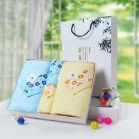 花之语2条毛巾2条浴巾套装 竹纤维礼品毛巾厂家直销代理图强毛巾
