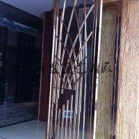 定制不锈钢金属屏风 酒吧花格酒店大堂隔断别墅客厅屏风隔断