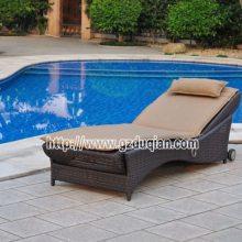 户外酒店家具海滩休闲折叠靠背椅实木午休椅景区沙滩椅躺椅