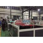 0.8 ~ 3mm Roofing Sheet Plastic Double Screw Extruder Machine With Stacker