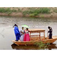 木船厂家热销河南吉林楚风景区观光船木质手划船公园客船