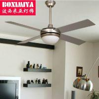 波西米亚灯具时尚吊扇灯 现代客厅卧室LED风扇灯 品质保障
