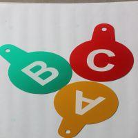 电力标示牌 电力线路牌 铝制品 电力杆号牌 ABC塔号牌