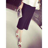小银子2015夏装新款洋气街拍百搭超舒适松紧腰半身裙长裙Q6122