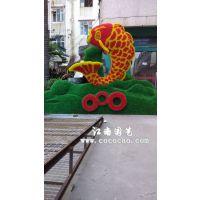 江南园艺订制仿真绿雕工艺年年有鱼