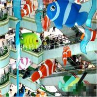 玻璃钢海洋生物挂件 海鲜酒店大型海洋世界模型雕塑 大海生物螃蟹雕塑 玻璃钢海水小龙虾