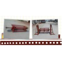 大城扬威机械彩涂板放料支架,压瓦机配料铁皮放料架,人工手动支撑架
