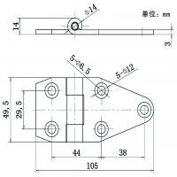 凯陆 不锈钢合页 铰链 轨道合页 电箱铰链 小合页 门窗合页 3mm厚