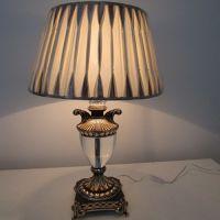 中元之光欧式艺术台灯 酒店豪华锌合金布罩台灯 奢华水晶装饰台灯