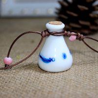景德镇手工陶瓷首饰 许愿瓶 香水挂件 车挂 包挂 游鱼戏水