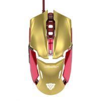 宜博E-BLUE 610钢铁侠3 极光狂蛇纪念版 有线游戏鼠标 机械手感