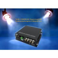 4 HDCVI video 1 RS485 1 ethernet to fiber converter for CCTV surveillance system
