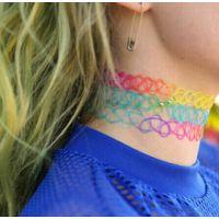 速卖通热卖欧美简约花纹编织项圈日本原宿弹性鱼线纹身外贸项链女