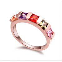 速卖通货源热卖 外贸订单首饰 镶嵌锆石戒指 欧美戒指 女士尾戒