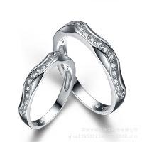 925纯银品牌情侣戒指种银饰品戒指情侣 男女对戒 批环正品