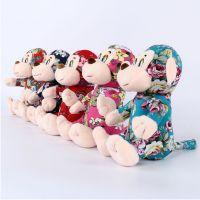 佛山定制新款布艺玩偶猴毛绒玩具 小猴子挂件婚庆娃娃小礼品礼物