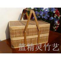 厂家直销  年货礼品包装竹篮月饼包装竹盒