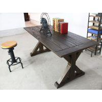 海德利厂家定制 北欧复古实木餐桌 简约长方形餐桌 批发